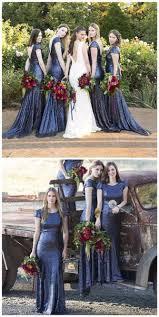 blue sequin bridesmaid dress charming popular cap sleeve neck royal blue sequin mermaid