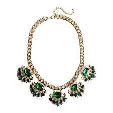 emerald stone necklace jewelry images Emerald royale crown stone burst embellished glam statement necklace jpg