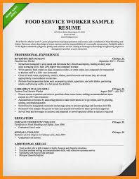 Sle Resume For Restaurant Server by 12 Sle Resume For Server Position Azzurra Castle Grenada