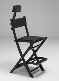 professional makeup artist chair the makeup chair in black wood with unique cantoni design