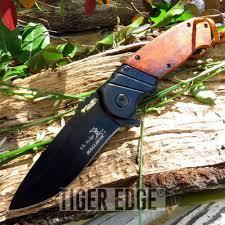 groomsmen pocket knife elk ridge black wood assist folding pocket knife edc
