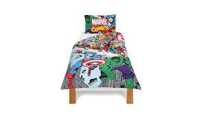 Avengers Duvet Cover Single Marvel Comic Duvet Set Single Home U0026 Garden George At Asda
