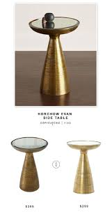 Brass Side Table Horchow Evan Side Table Copycatchic
