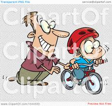 tricycle cartoon royalty free rf clip art illustration of a cartoon father