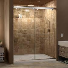 60 Shower Doors Dreamline Charisma Frameless Bypass Sliding Shower Door And