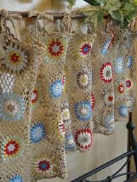Kitchen Curtain Patterns Inspiration 14 Kitchen Curtains Crochet Curtains Pinterest Kitchen
