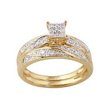 yellow gold bridal sets bridal sets rings kmart