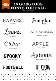10 fall fonts to download now pizzazzerie
