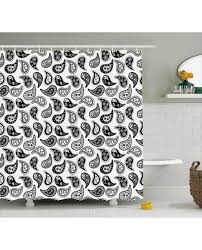 Paisley Shower Curtains Shower Curtain Different Flowers Forms Print For Bathroom
