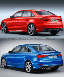 audi rs 3 sedan audi rs3 sedan vs audi a3 sedan in images
