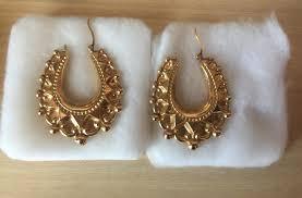 gipsy earrings 9ct gold large earrings in southend on sea essex gumtree