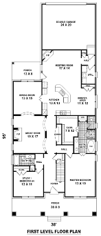 floor plans for narrow lots floor plan of craftsman narrow lot house plan 46858 houses
