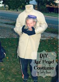 stick figure halloween costumes diy costume how to make a jar head
