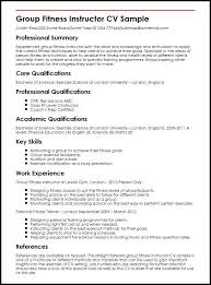 sample fitness instructor resume weight loss personal trainer
