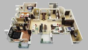house plans 4 bedroom new 4 bedroom house plans 3d new home plans design