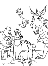 shrek coloring pages funycoloring