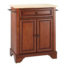 crosley furniture kitchen island crosley furniture lafayette wood top portable kitchen island