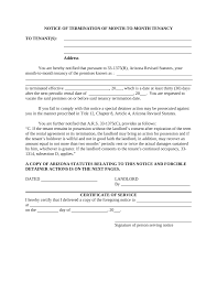 arizona lease termination letter template 30 day notice eforms