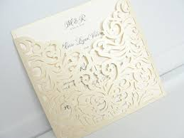wedding invitations pocket laser cut wedding invites laser cut wedding invitations