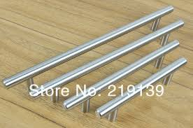 Door Handles For Kitchen Cabinets C C256mm T Shape Solid Stainless Steel Furniture Kitchen Cabinet