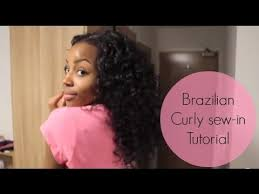 curly black hair sew in brazilian curly sew in weave nicolle s boutique youtube