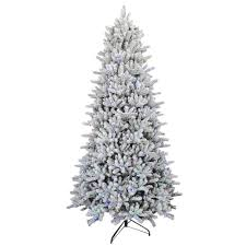 9 ft pre lit led flocked balsam wrgb artificial tree
