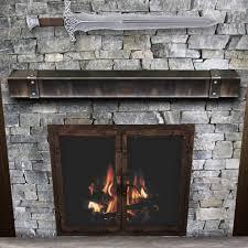 52 metal mantel shelves hammered steel fireplace mantel shelf
