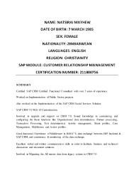 Cognos Consultant Resume Sap Crm Functional Consultant Cv Corpedo Com