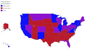 map of us states political current members of the united states senate political