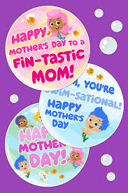 bubble guppies printable mother u0027s day cards nickelodeon parents