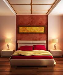 white decorating ideas and bedding in dark red color modern