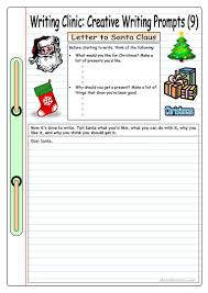 Creative Writing Prompts For Kids Worksheets Writing Clinic Creative Writing Prompts 9 Letter To Santa