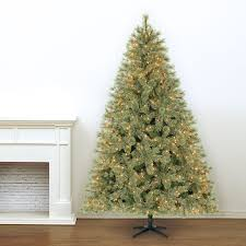 Pre Decorated Christmas Trees Artificial by 7 5 Ft Pre Lit Jasper Cashmere Artificial Christmas Tree Clear