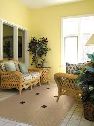 Wicker Living Room Chairs by Yellow Walls U0026 Wicker Furniture Sun Room Sun Room Ideas