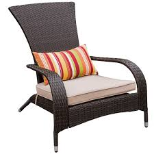 Cushions For Wicker Patio Furniture - 2 pcs all weather patio furniture brown wicker barstool with cushions