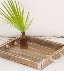 rustic wood serving tray with handles home decor u0026 lighting