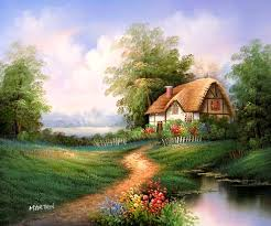 country cottage buy painting by cottage paintings