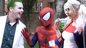 spider man meets harley quinn u0026 the joker superhero dating in
