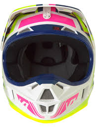 helmet motocross fox navy white 2017 v1 falcon kids mx helmet fox