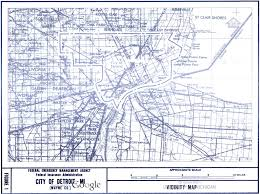 Metro Detroit Map by Detroit Flood Insurance Map 1981 Detroitography