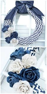 Awesome Home Decor Ideas Denim Wreath Tutorial In Only 10 Minutes Awesome Home Decor