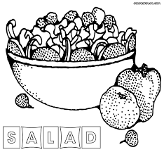 Salad Coloring Pages Within Cut And Collage Page Justinhubbard Me Cut Coloring Pages