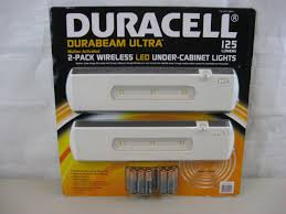 duracell led under cabinet light duracell wireless motion activated led under cabinet lights 2 pk 125