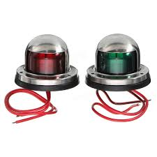 Boat Navigation Lights Yacht Light 12v Stainless Steel Led Bow Red Green Navigation