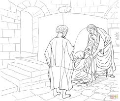 coloring pages peter walks on the water coloring page free