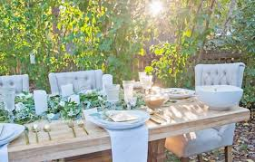 easy simple decorating ideas for outdoor summer dinner party boho