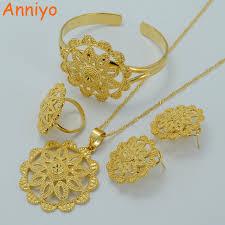 wedding jewellery sets gold anniyo wedding jewelry sets gold color habesha set