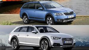 audi a4 comparison 2017 skoda octavia scout vs 2017 audi a4 road test review