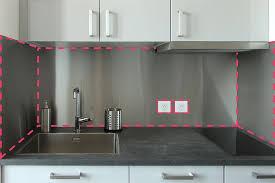 plaque aluminium cuisine crédences de cuisine sur mesure en inox et aluminium steel