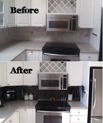 DIY Vinyl Tiled Backsplash  Steps - Tile backsplash diy